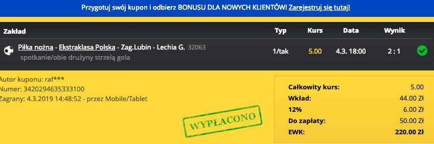 """Inwestujesz 50 złotych, by wygrać 220. Jak na chwilę """"pracy"""" - to całkiem nieźle!"""