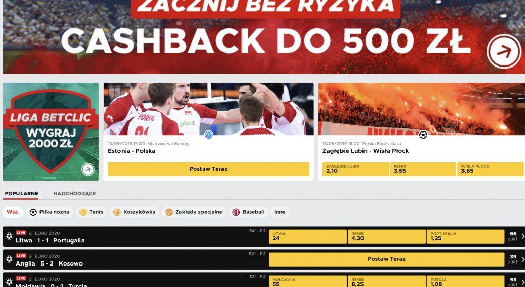 Betclic.pl - kod promocyjny na bonus za darmo