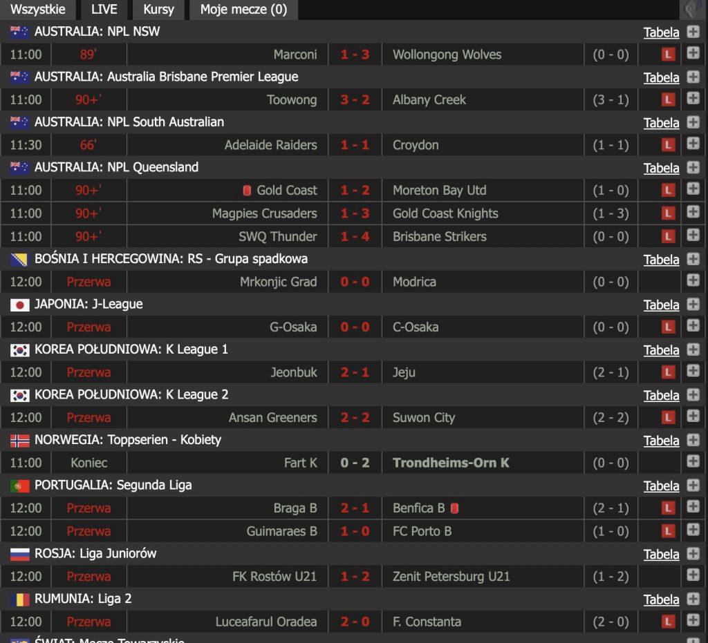 Livesports mecze live