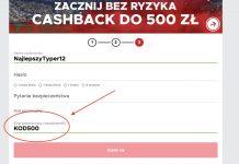 """Betclic Polska - kod promocyjny """"KOD500"""""""