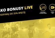 Bonusy na kupony LIVE w Fortunie - AKO doładowanie dla graczy!