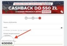 Betclic kod promocyjny KOD550. Bonus na start to cashback 550 zł!