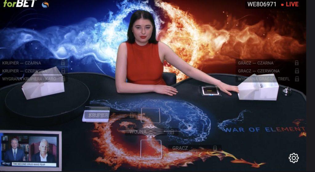 Forbet TVbet - wojna, poker, blackjack online na pieniądze