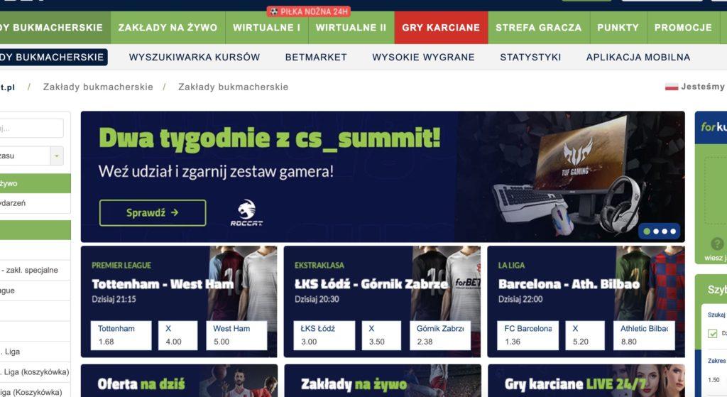 Karty online Forbet TVbet