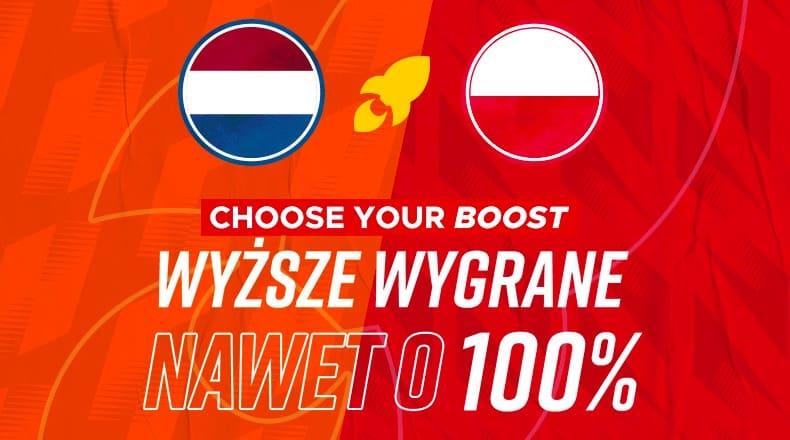 Betclic daje wygrane ekstra 100%! Tylko na mecz Holandia - Polska w Lidze Narodów!